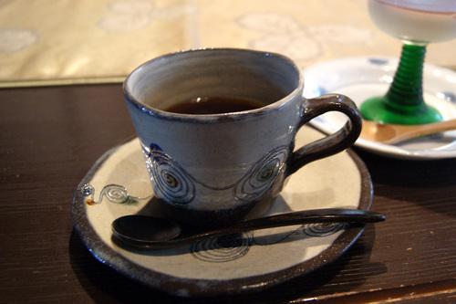 旬菜たけうちランチデザートのコーヒー