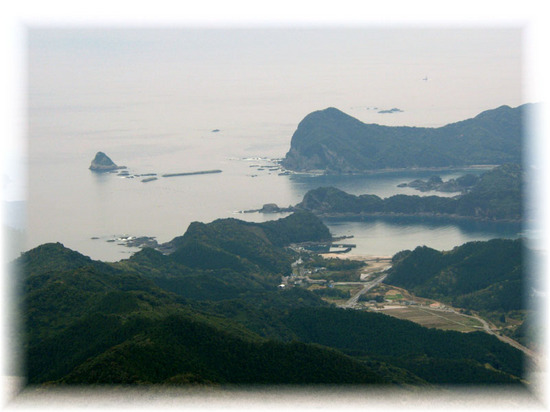 鏡山からの風景-浦城