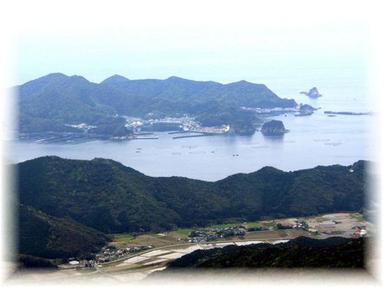 鏡山からの風景-島の浦