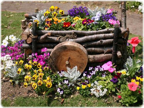 お花のコンテナ